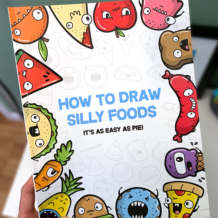 How to Draw Silly Foods Book   $9.99
