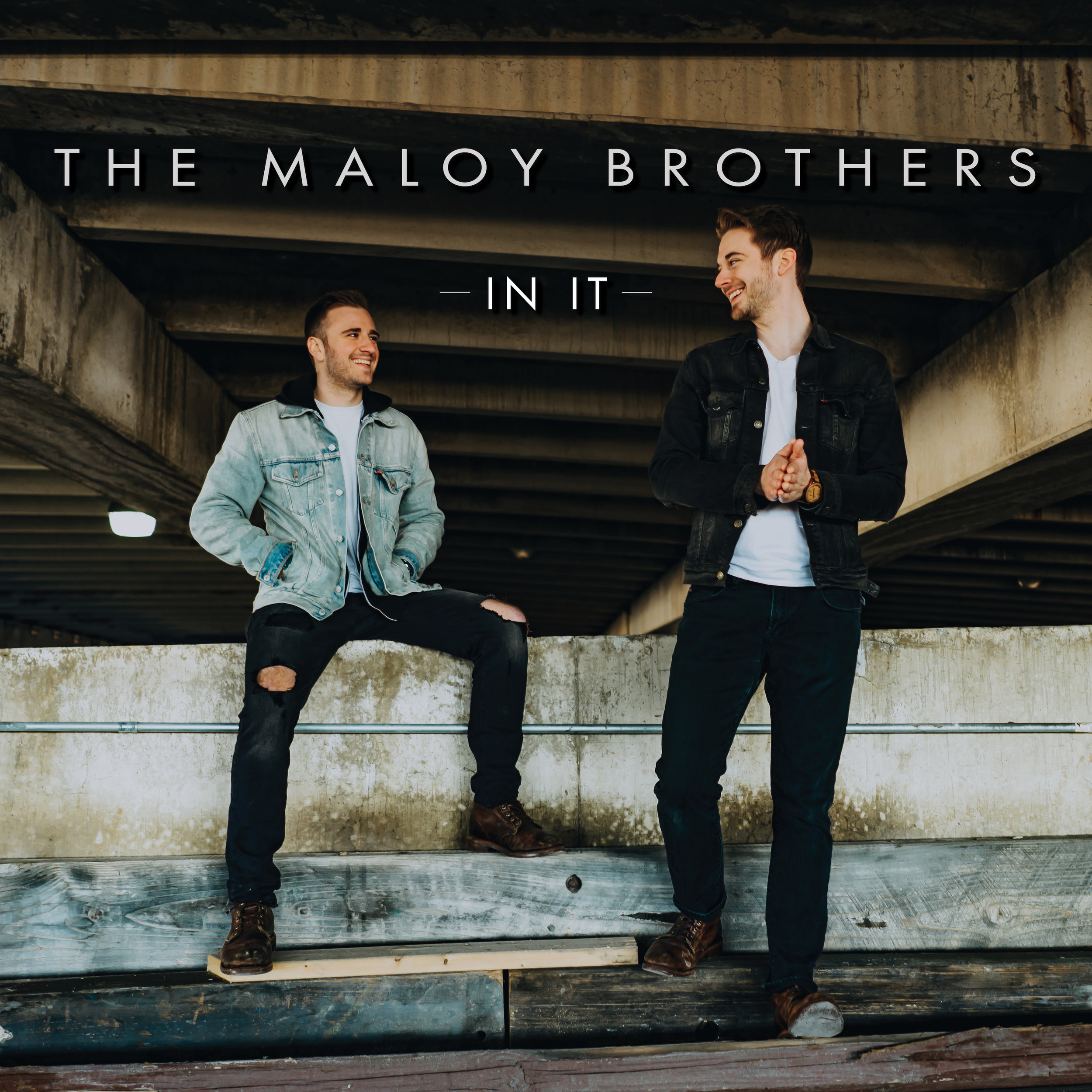 "Cover art for The Maloy Brothers upcoming single, ""In It"". Photo by Kiki Vassilakis; design by Sarah Heikkinen."