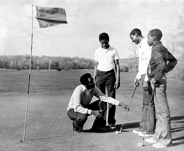 A Golf Pro Gives Lessons at Langston in 1979