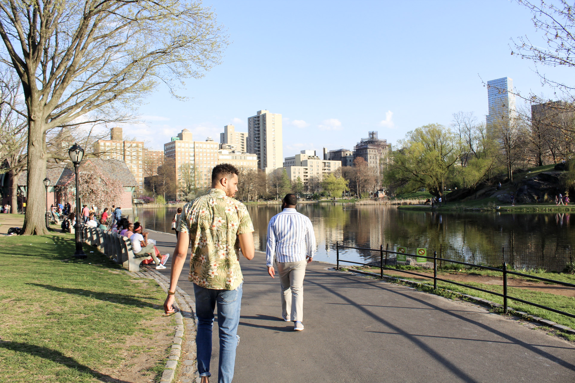Jerrod and Brandon Walking in Central Park.