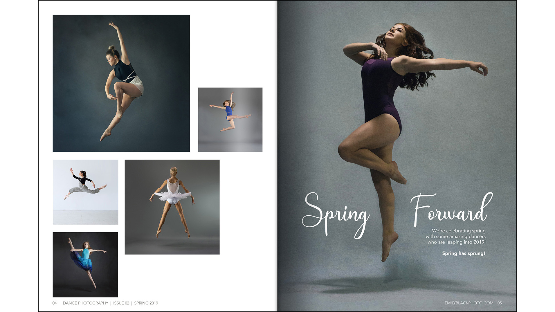 Photo Feature - I saw a theme of jumping within some of my work and created a photo spread for the issue.