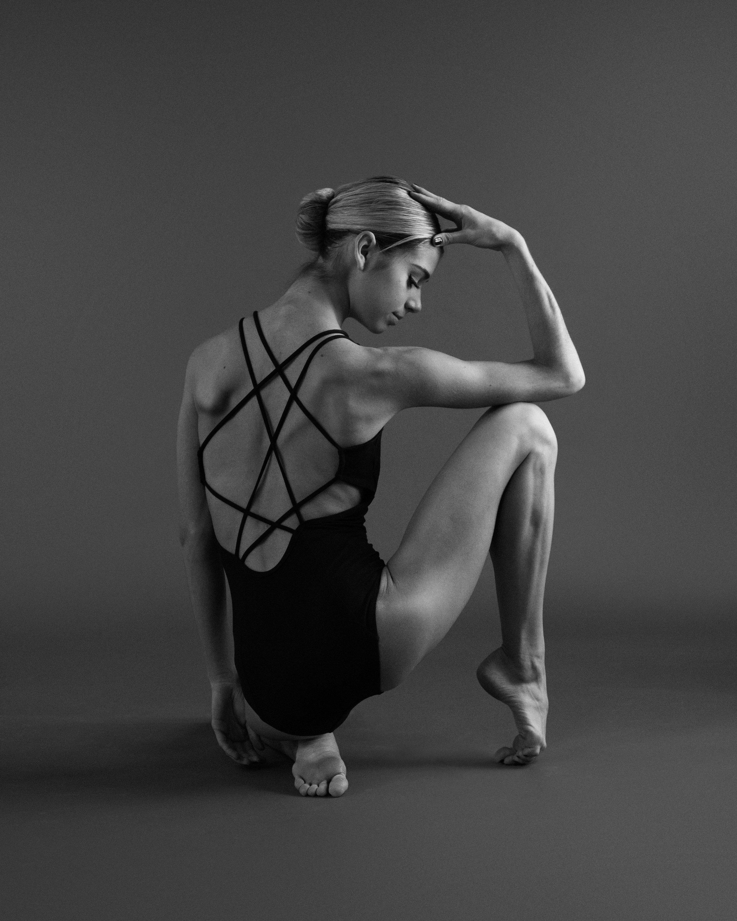 Black and White Dance Portrait