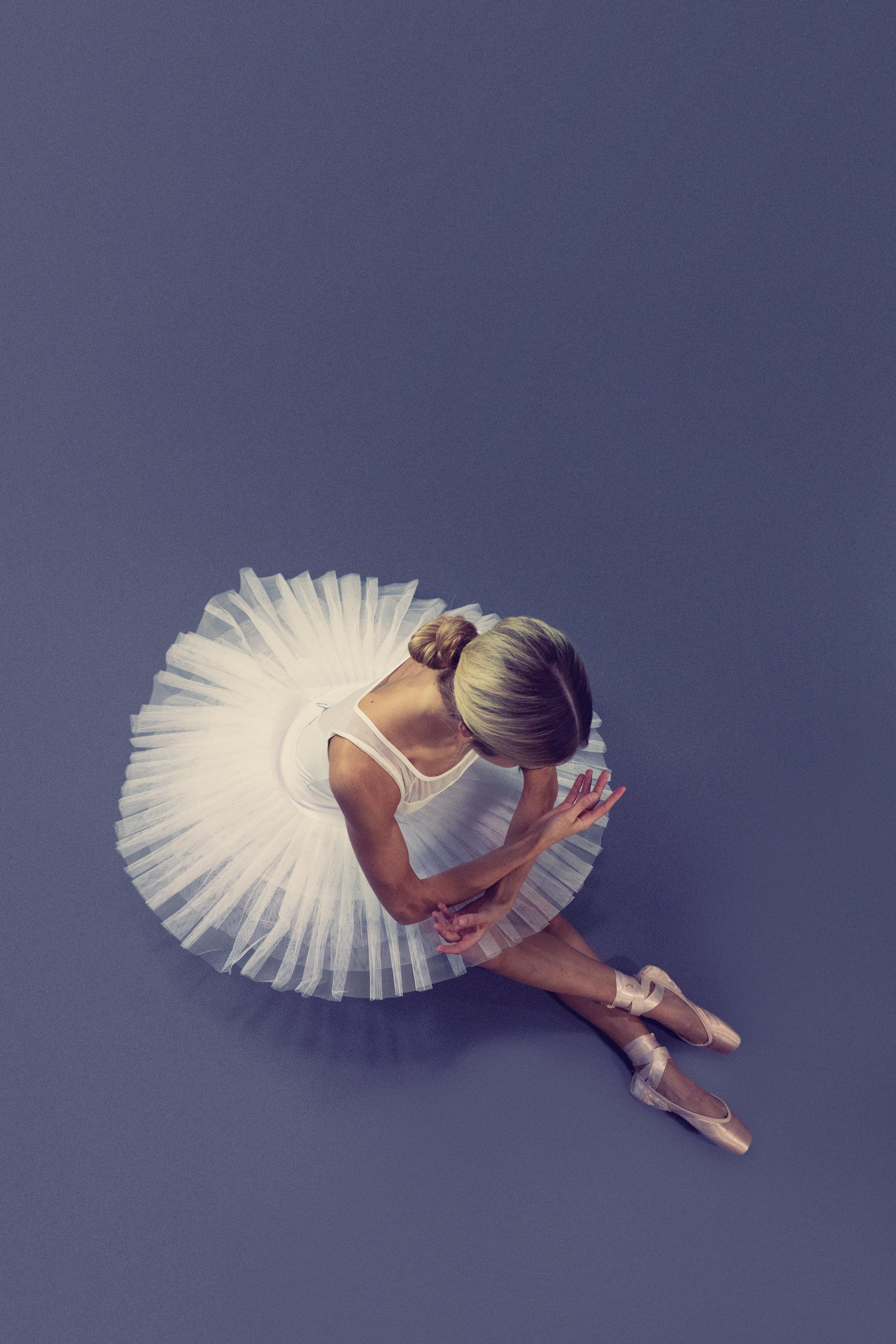 Overhead Shot of a Ballerina