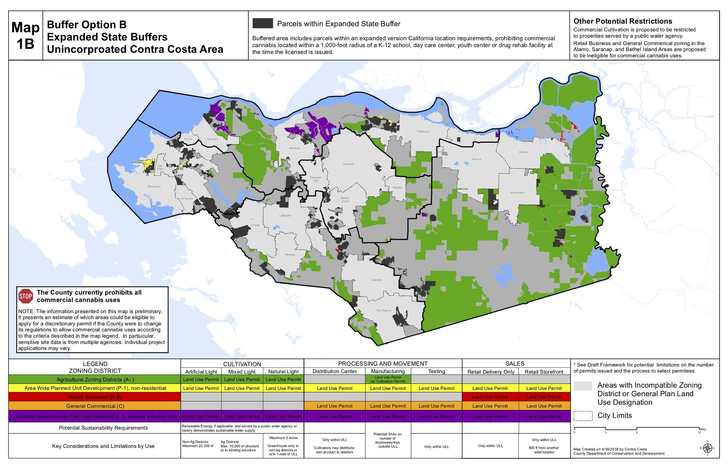 "Contra Costa County ""Green Zone"" Map."