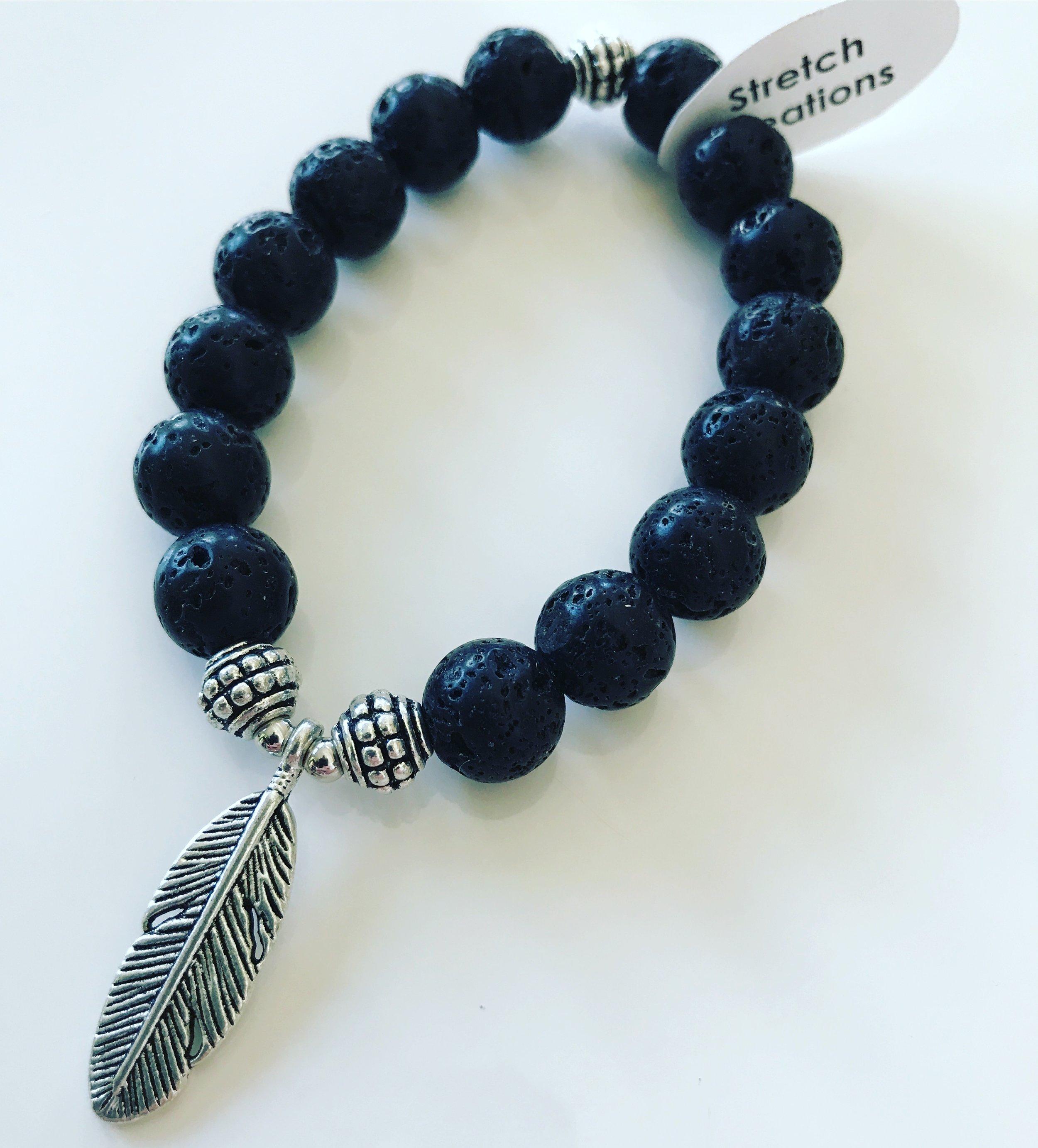 Freedom Feather Aromatherapy Bracelet