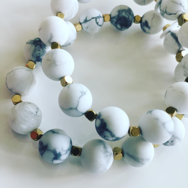 Marble Howlite Calming Bracelet