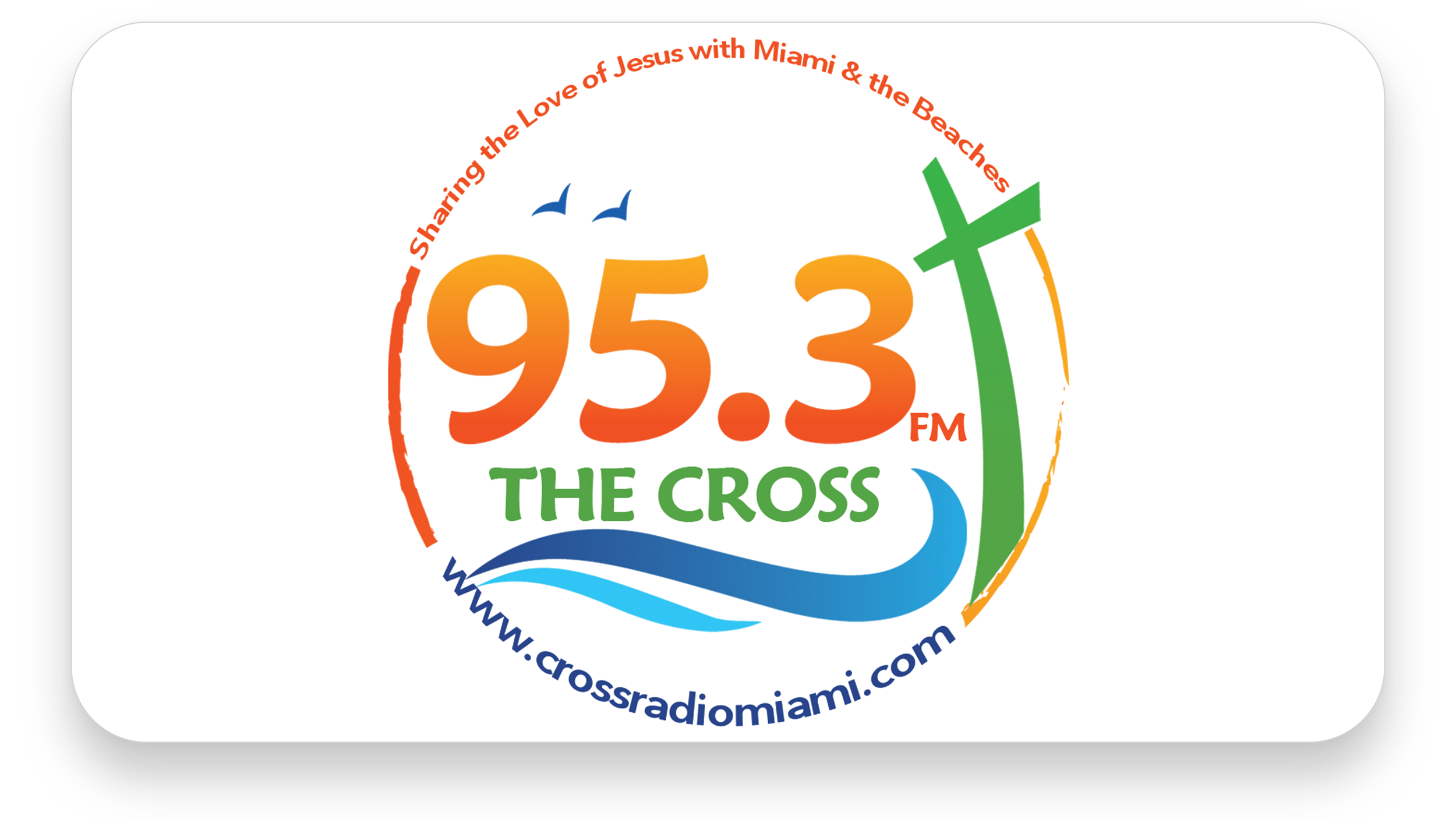 The Cross Radio   The Cross (95.3 WLJM LP-FM) is the radio outreach ministry of Calvary Chapel Miami Beach. We believe Jesus opened the door for this station so that His glory and love would be shared with the people of Miami and the Beaches. We aim to glorify Christ and equip His people to stay focused on Him.
