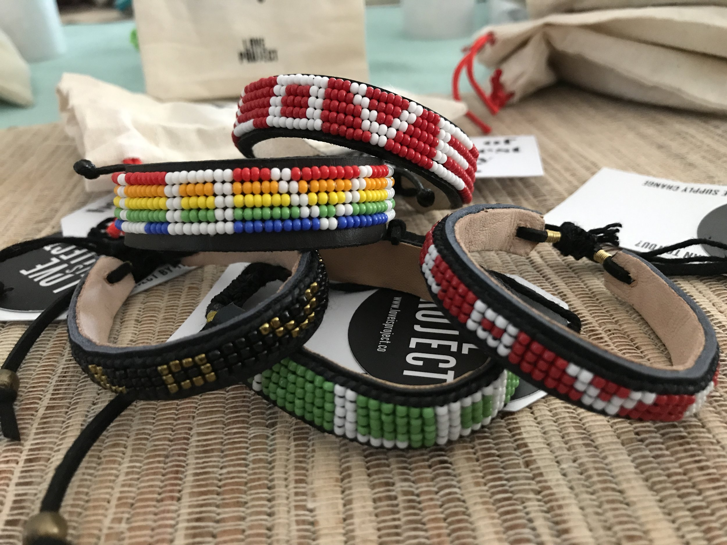 LOVE bracelets for the store -