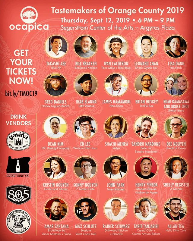 Get excited peoples!!! We are soo excited and truly humbled. We are participating with great chefs and friends for this great charity event the @ocapica97 Tastemakers Event!! Special thanks to Chef Dee, Chef Tarit, God father Dean, plus Nick & Keith of Sysco Riverside for supporting and donating so we can help with this awesome charity. #chefeats #ocapica #blizzardentertainment #blizzlife #trulyblessed #irvine Get your tickets!! Dont miss out on the amazing food and talent!See you there!!