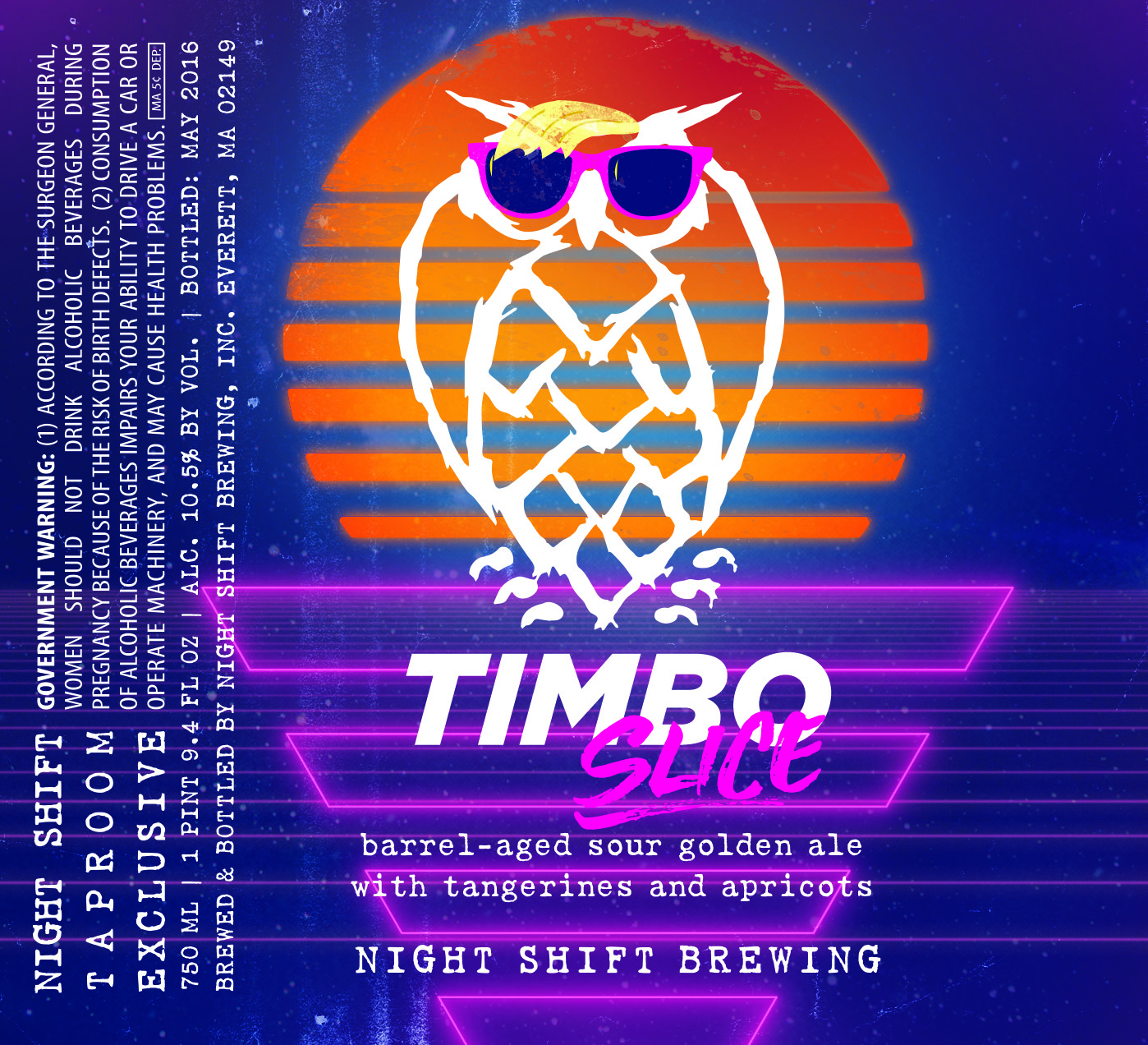"Final label design, ""Timbo Slice."""
