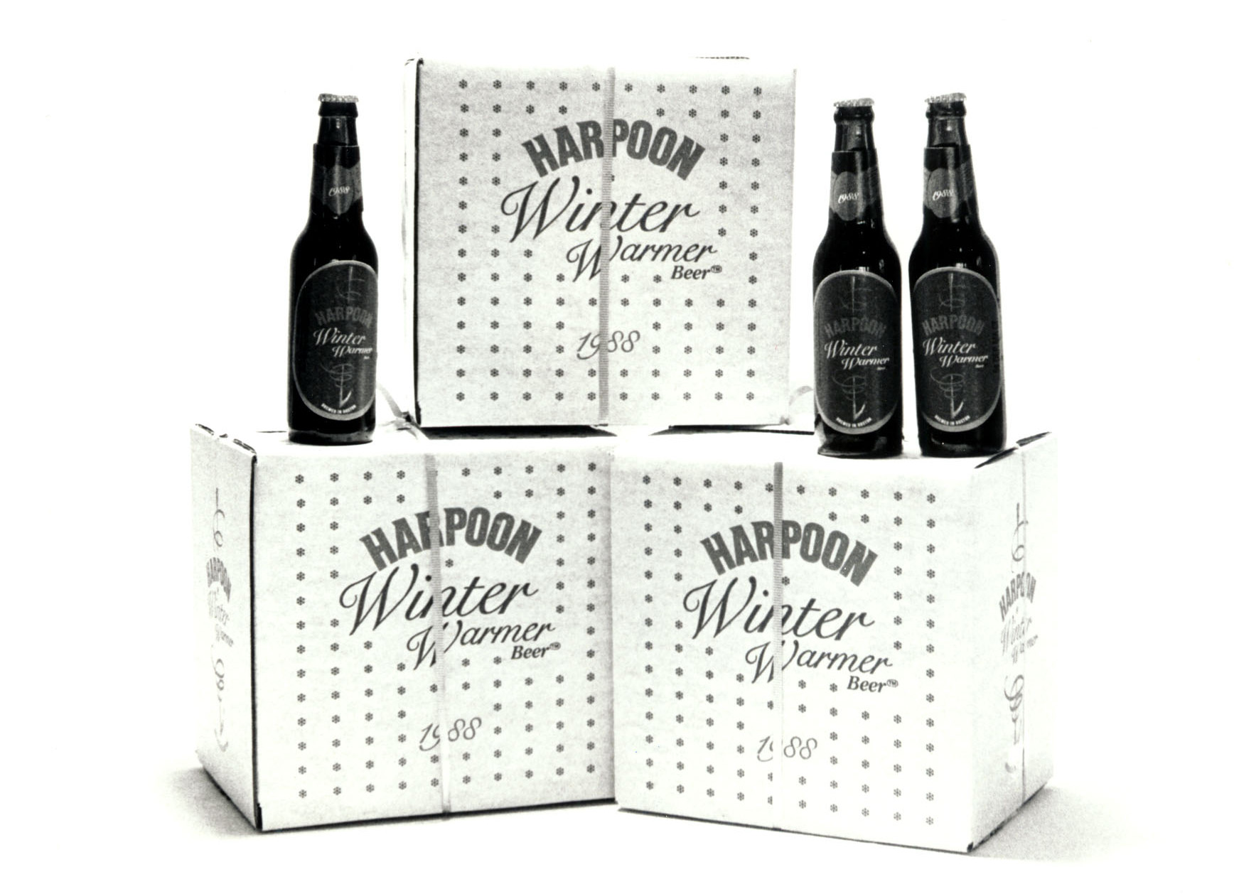"""Harpoon """"Winter Warmer"""" packaging from 1988. Photo courtesy of Harpoon Brewery."""