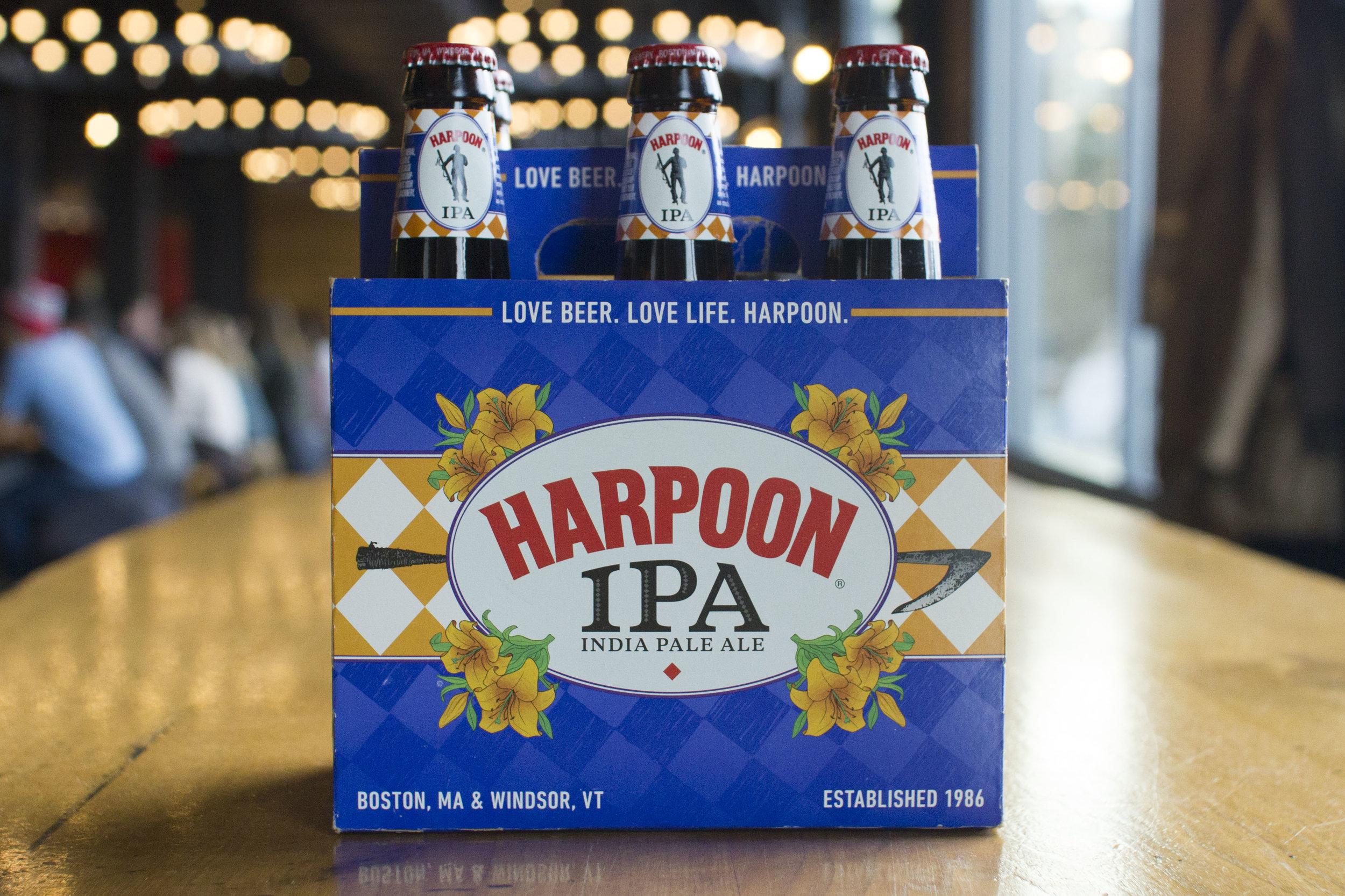 "Harpoon ""IPA"" packaging, 2013. Photo courtesy of Harpoon Brewery."
