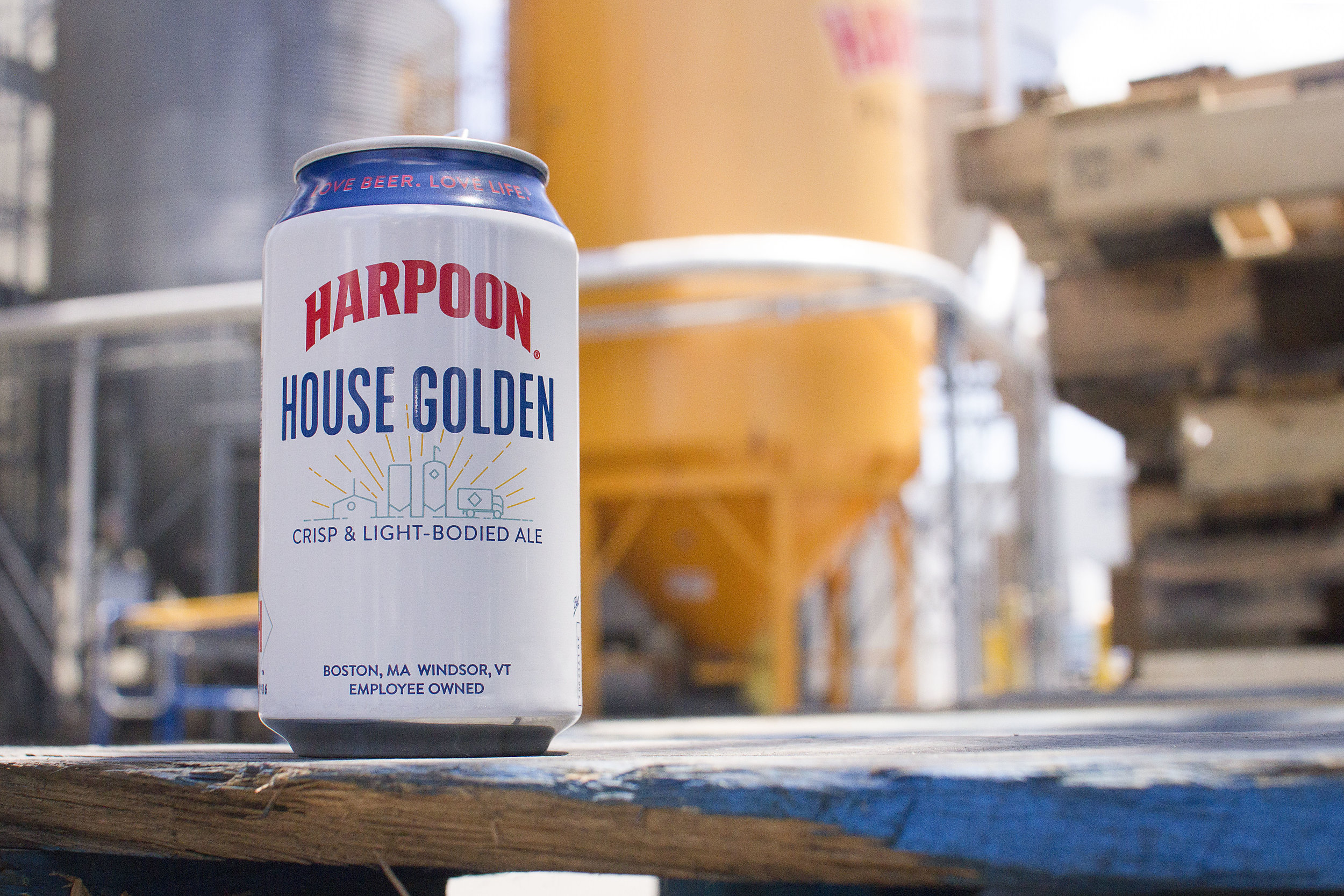 """Harpoon """"House Golden""""packaging, 2017. Photo courtesy of Harpoon Brewery."""