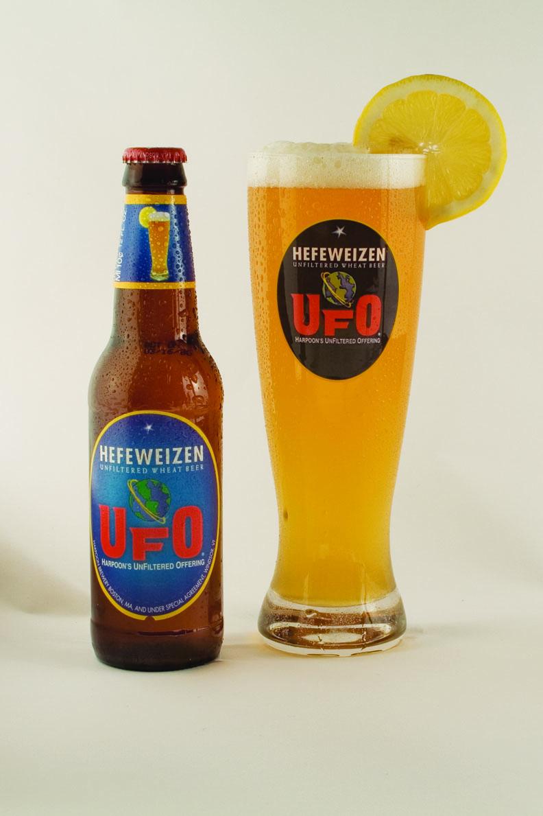 "UFO ""Hefeweizen"" packaging, 2007. Photo courtesy of Harpoon Brewery."