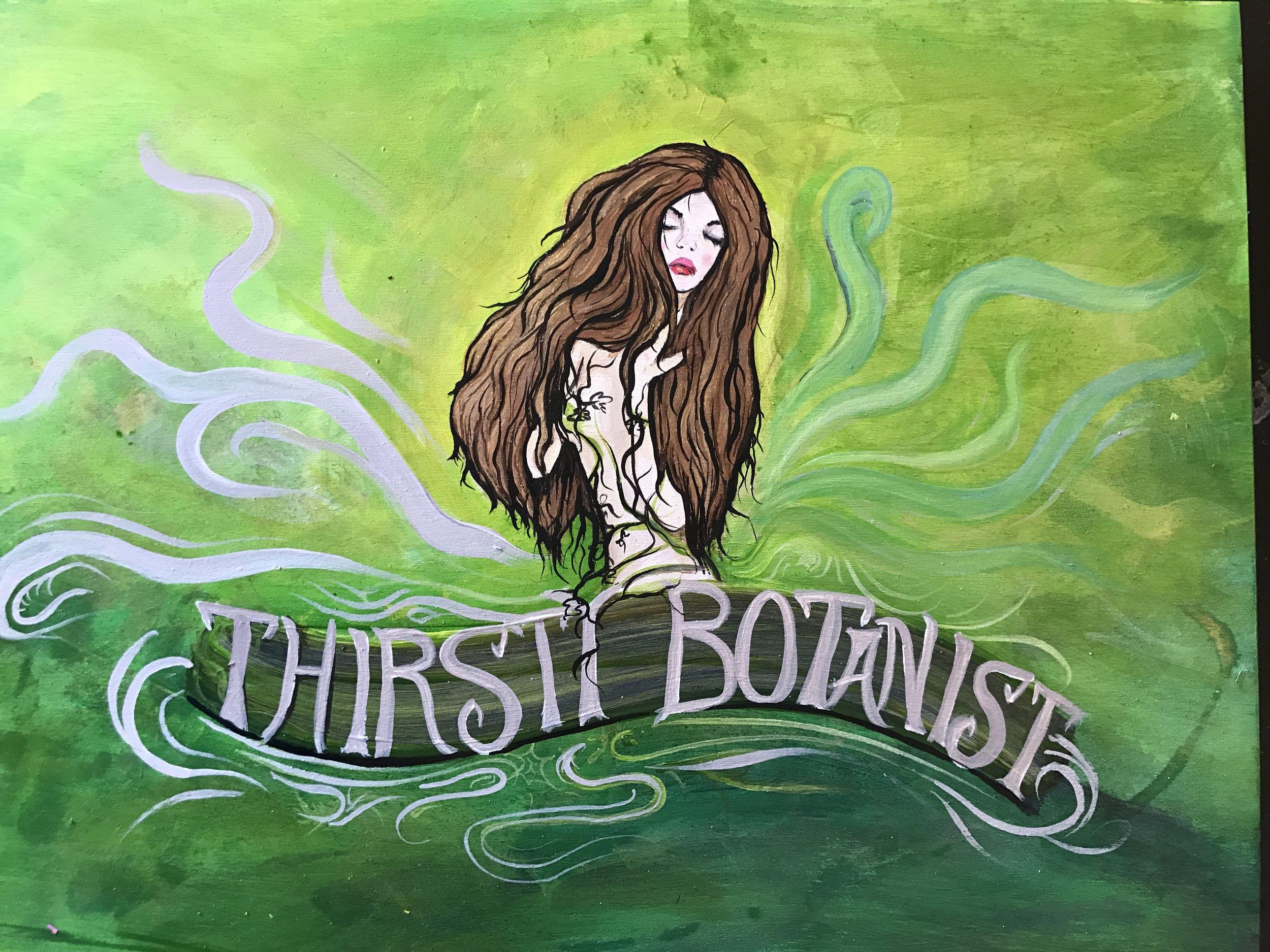 """Boothbay Craft Brewery """"Thirsty Botanist"""" design development"""