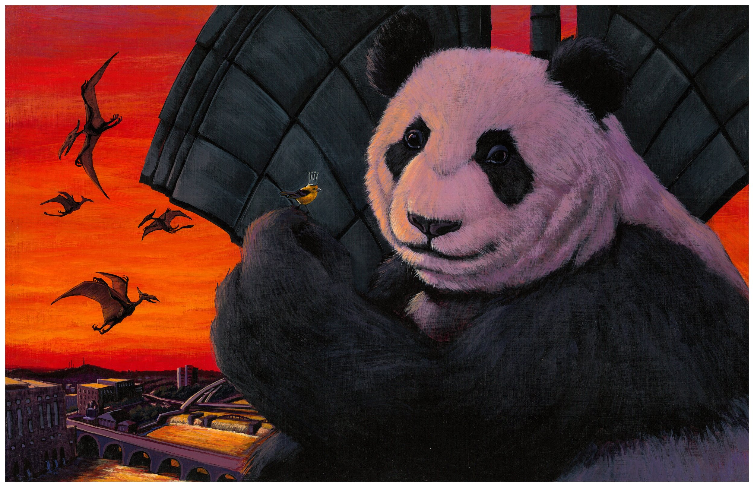 """Giant Panda Dub Style"" IPA illustration by Allen Firlit"