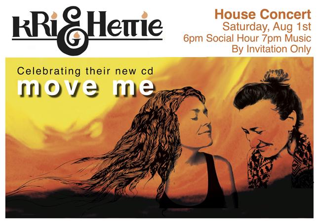 Kri & Hettie - August, 2015Celebrating their new cd, Move Me
