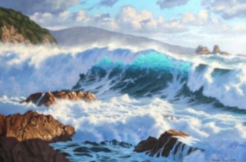 Houghton Bay - Samuel Earp seascape artist