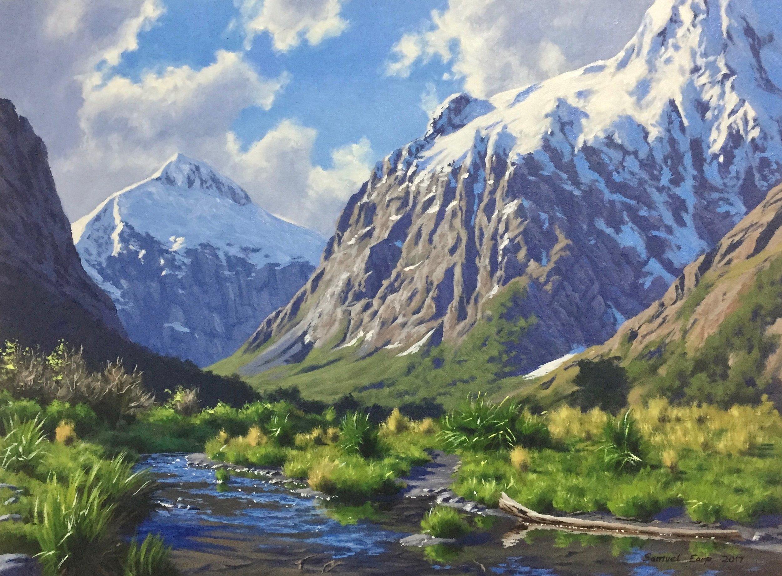 Mt Talbot and Mt Crosscut - Samuel Earp landscape artist.jpg