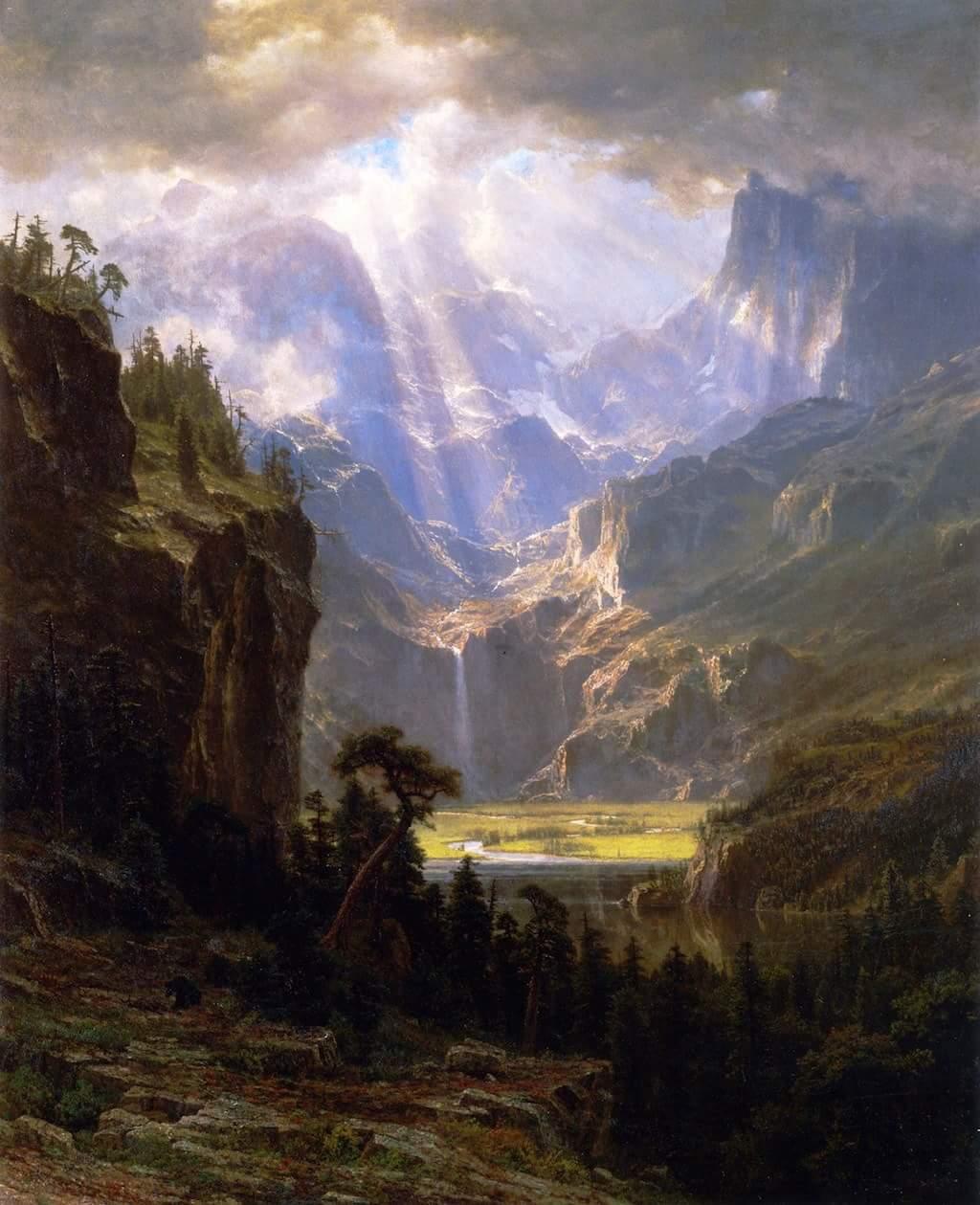 Landers Peak by Albert Bierstadt