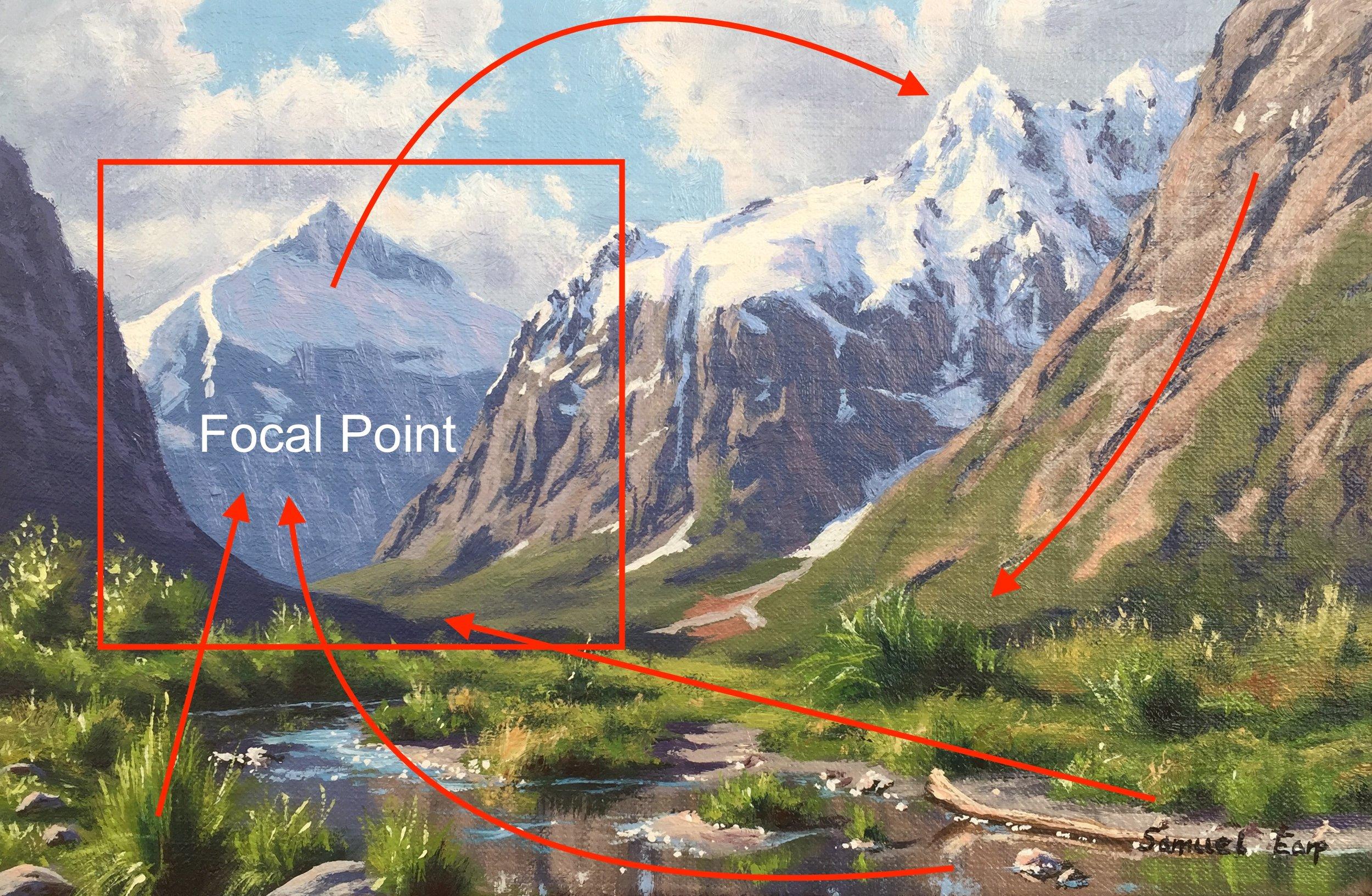 Mt Talbot and Mt Crosscut - Composition - small painting - Samuel Earp landscape artist.jpg