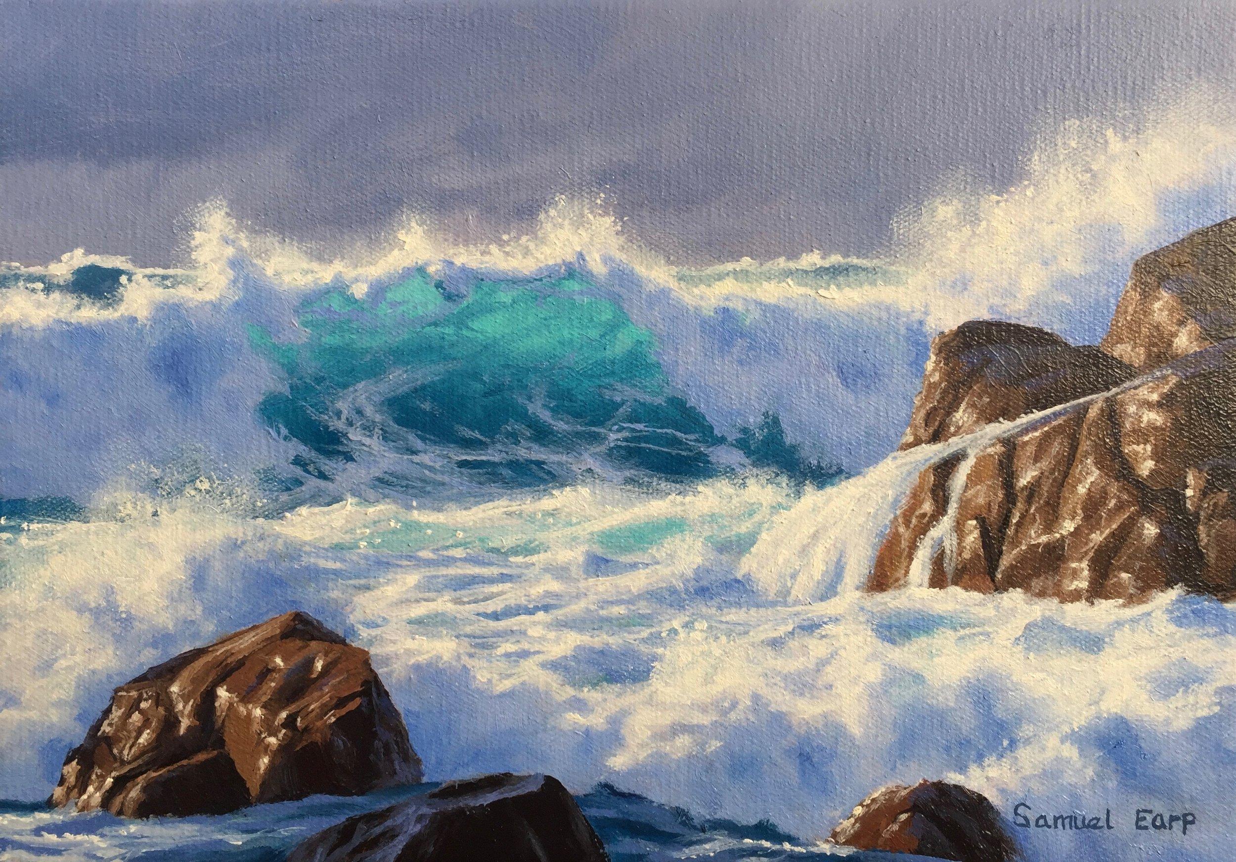 Atlantic Storm - seascape oil painting - Samuel Earp.jpg