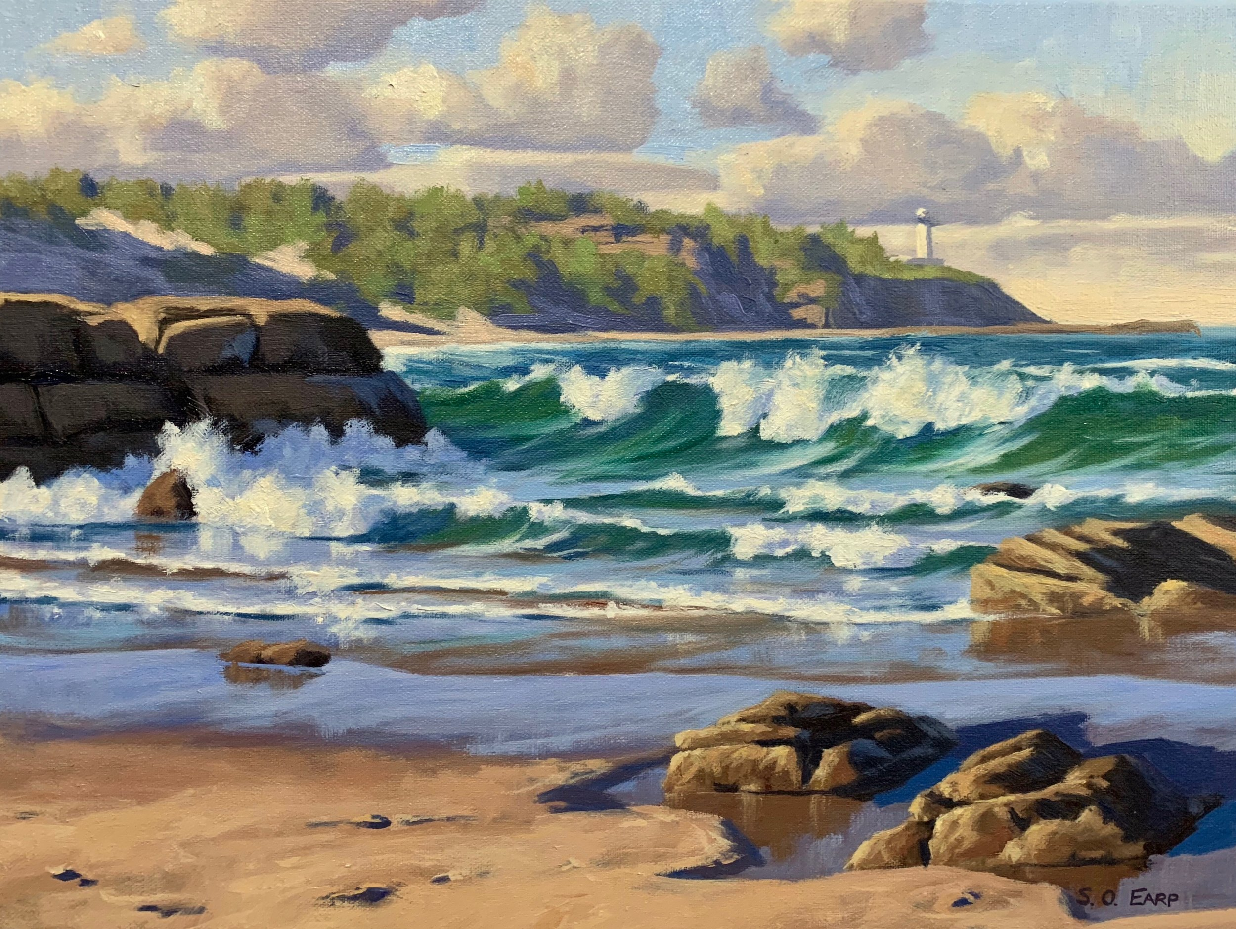 Norah Head, Australia, 40cm x 50cm, oil on canvas.