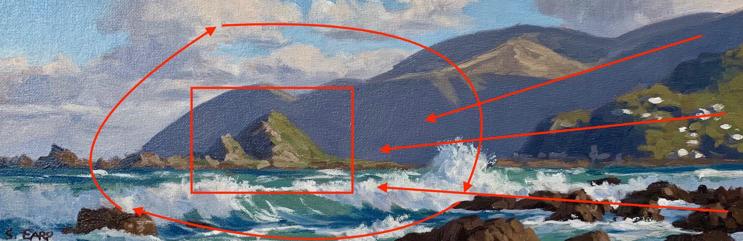 Wellington Coast - small oil painting - Samuel Earp - seascape artist - composition 5.jpg