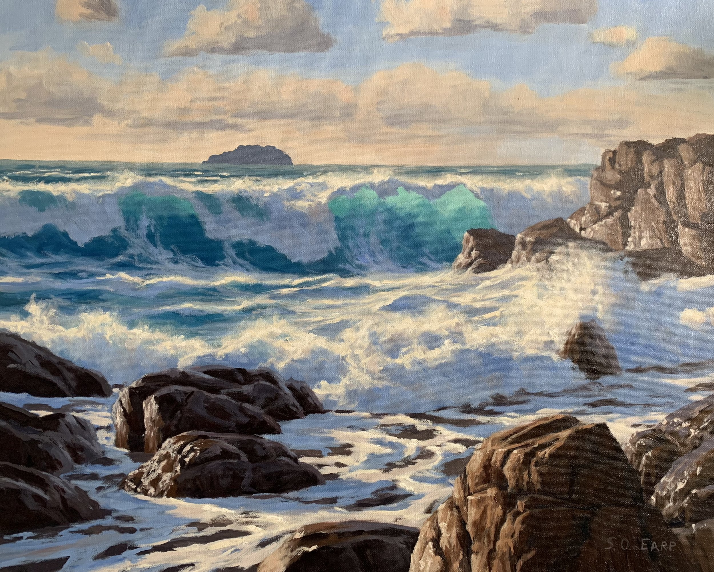 Wild Sea - Guernsey - seascape oil painting - Samuel Earp.jpg