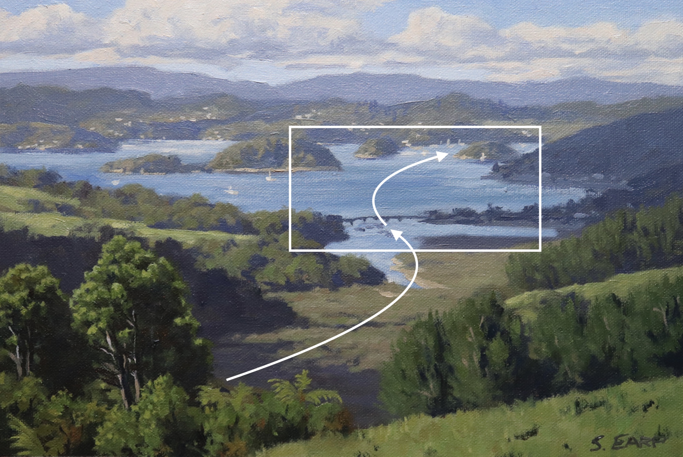 Bay of Islands - New Zealand - Samuel Earp - Oil Painting composition.jpg