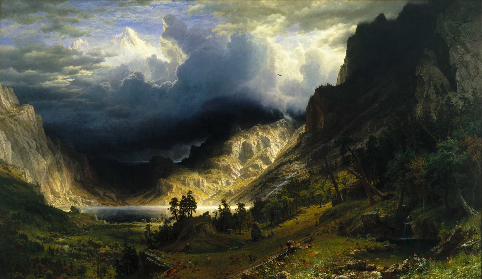 A Storm in the Rocky Mountains - Albert Bierstadt - 1868