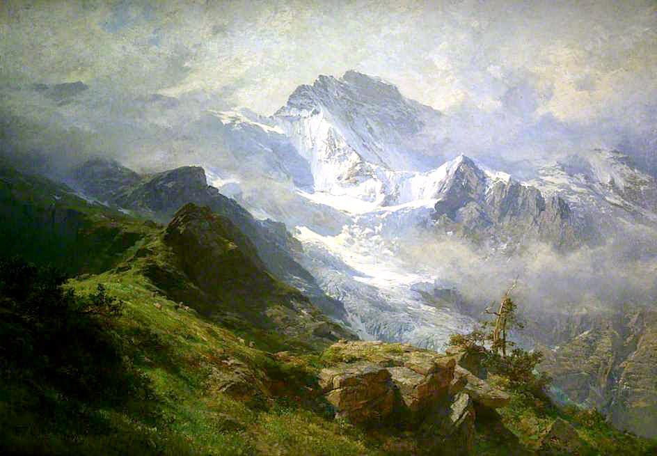 The Jungfrau by Edward Theodore Compton, 1890.