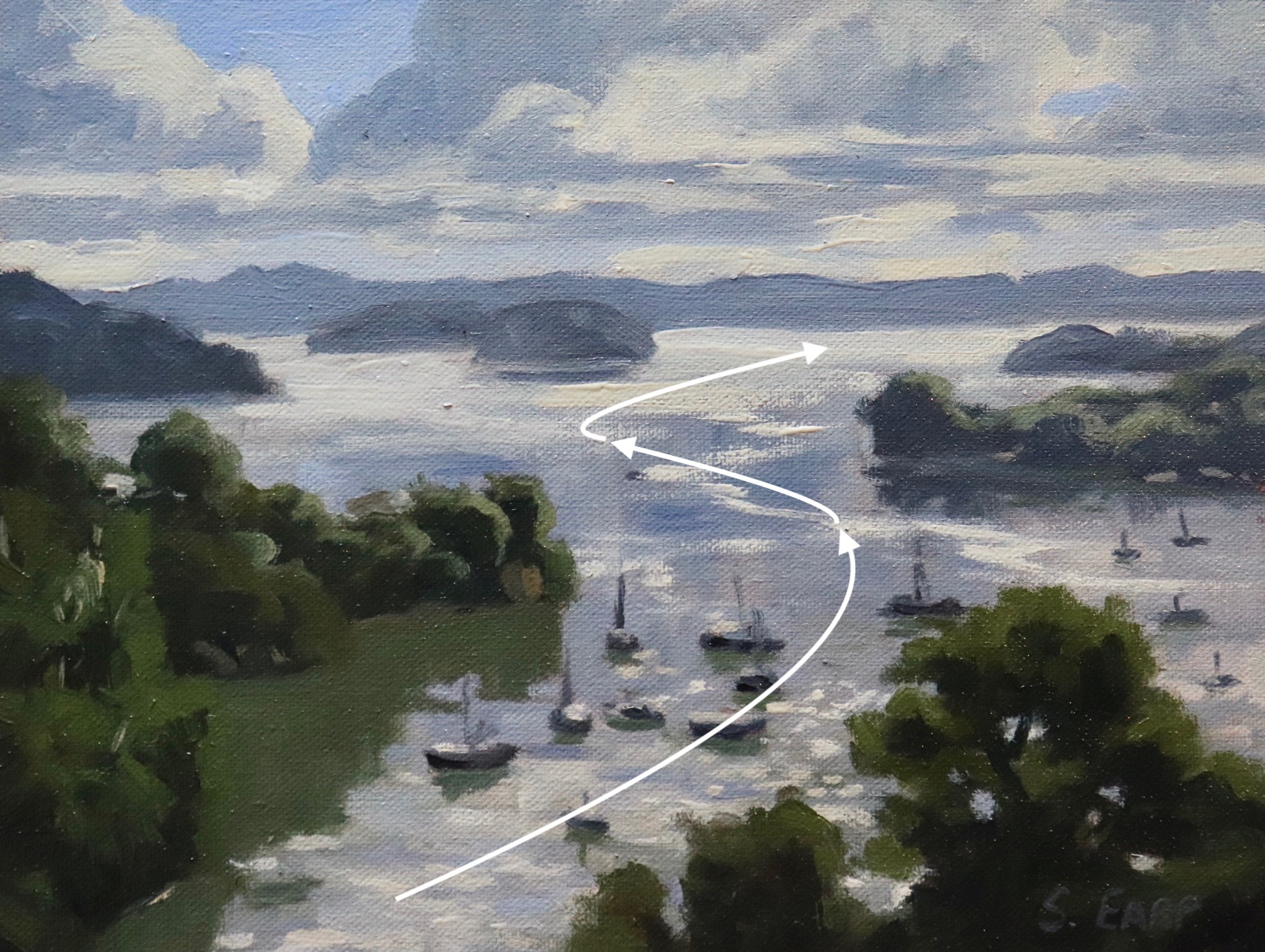 Compound Curve - View From Opua - Bay of Islands - plein air painting - Samuel Earp copy.jpeg