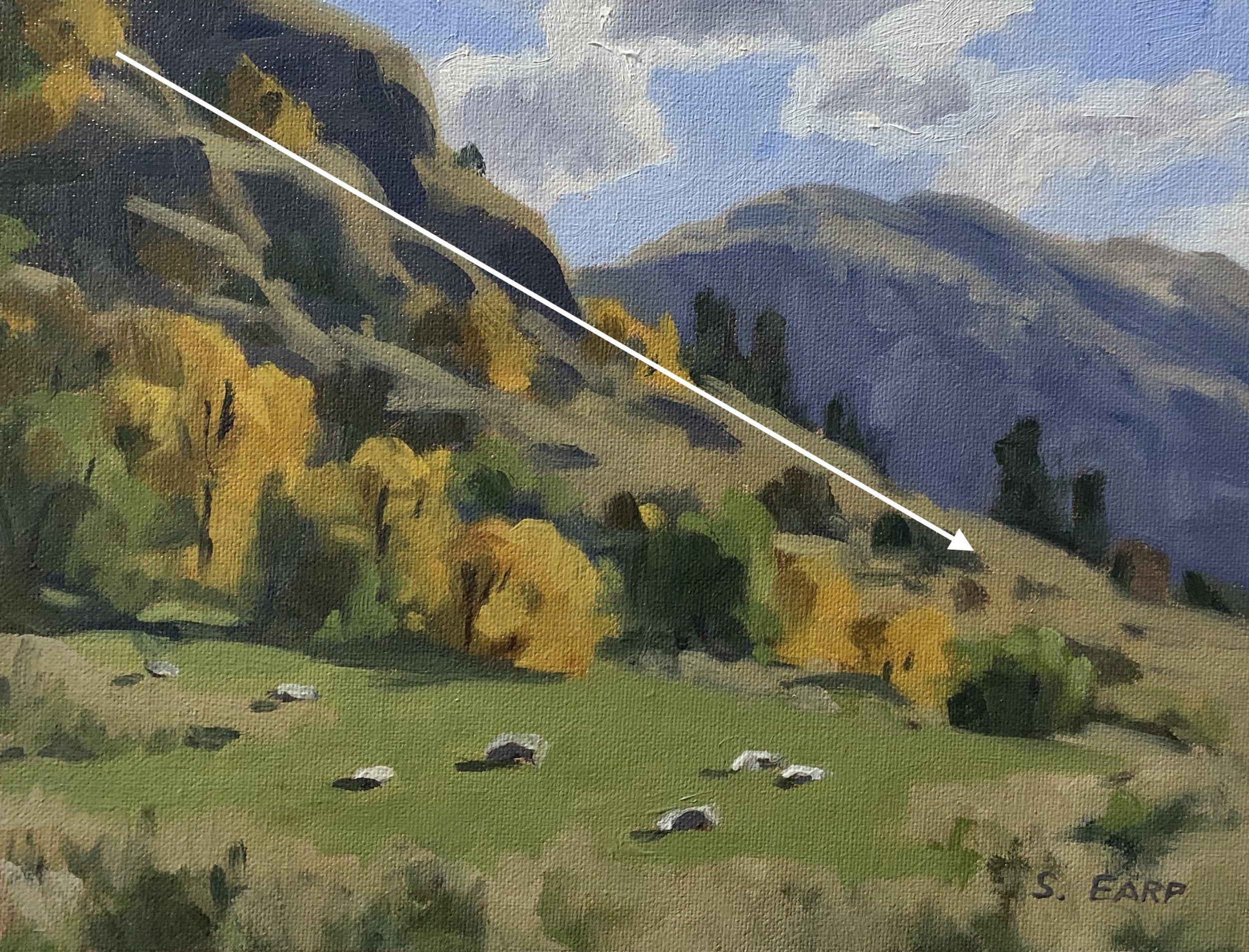 Autumn Trees Diagonal line- The Gorge - plein air - Samuel Earp copy.jpg