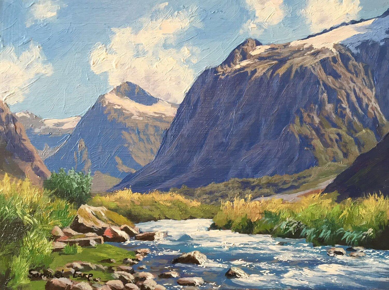 Mt Talbot - small painting - Samuel Earp.JPG