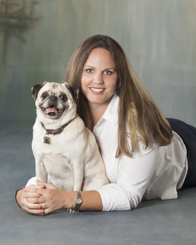 Erin Bonilla - With her Pug, Otis