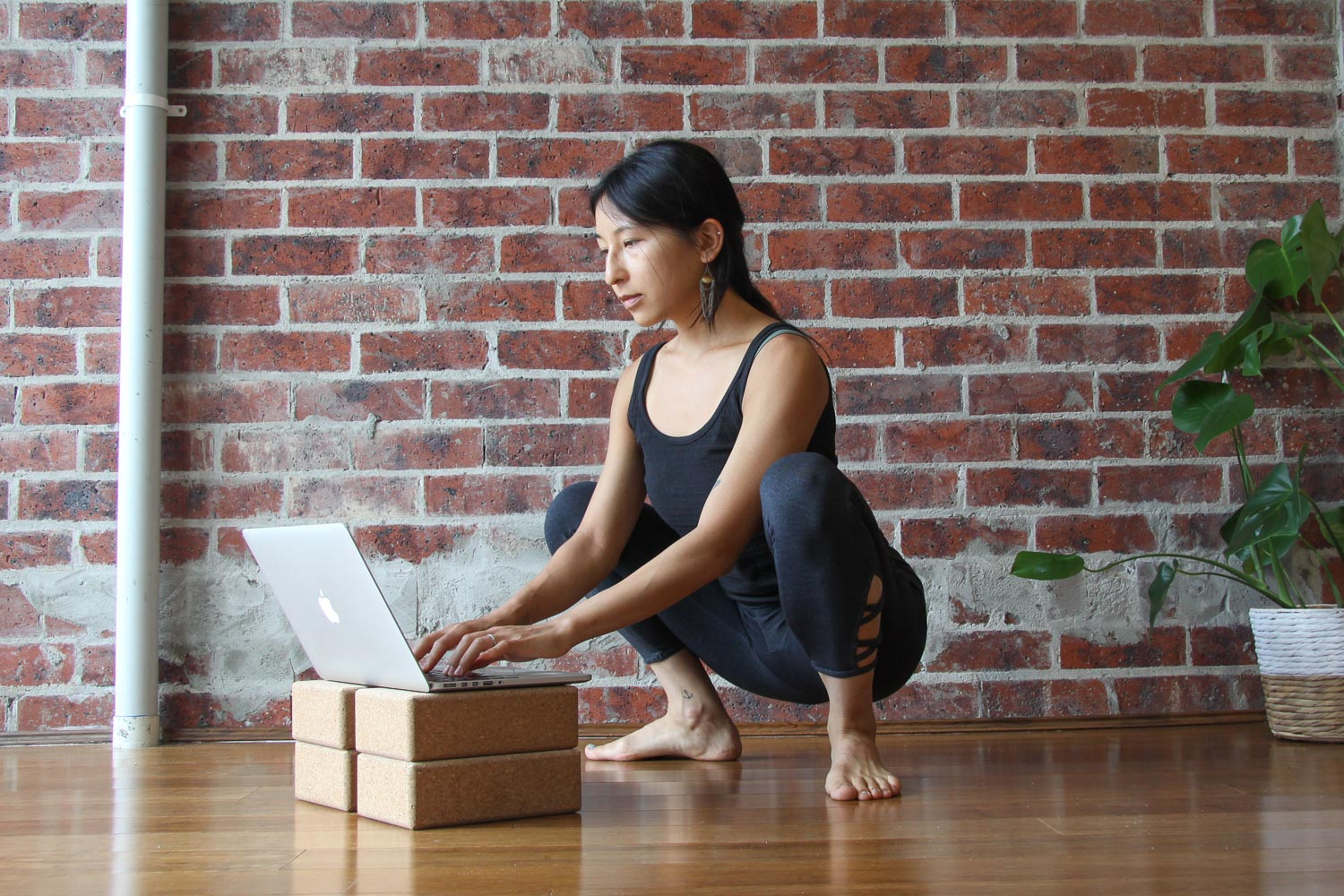 Sitting in a lightly active Malasana can help to strengthen your seat, and avoid the 'chair-body' effect.