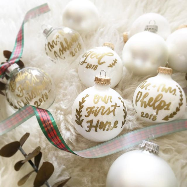 * SALE! * Custom Glass Ornaments only $8! Great last minute gifts for teachers, friends, and family! (Normally $15!)