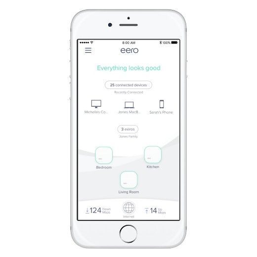 Mesh Networking - Once you have a managed router handling the wired connections, next is replacing that netgear wireless access point with a modern mesh network that can handle today's wireless needs. We use Eero and with the app, you can see the devices using your wireless and how much bandwidth your wireless network is using.