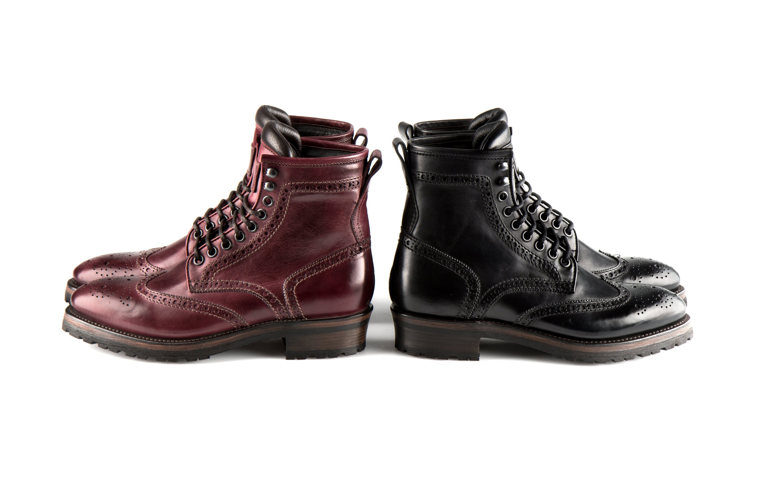 Shoes from Project Twlv, a like-minded brand that focuses on craftsmanship and high quality Italien leather boots