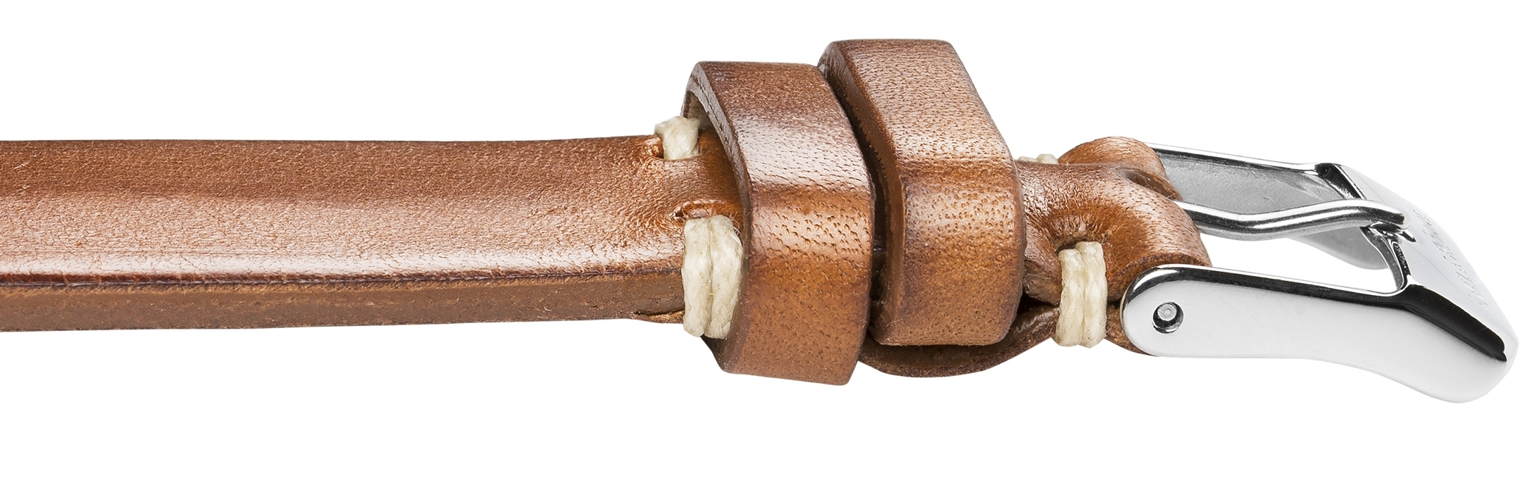 Organically tanned cognac leather straps