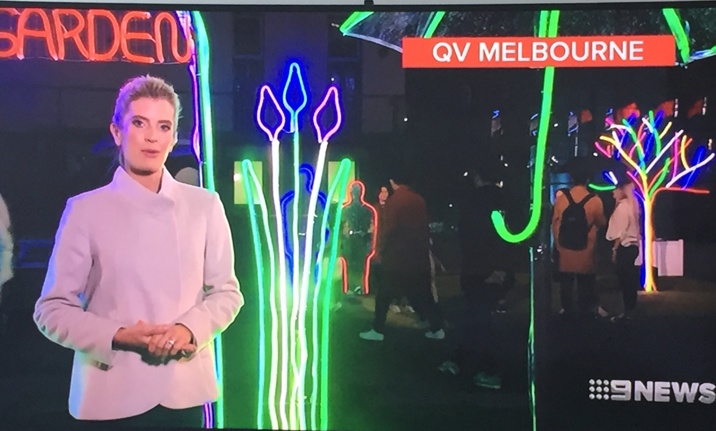 20170517 Ch 9 News QV Melbourne Neon Night Garden16.jpeg