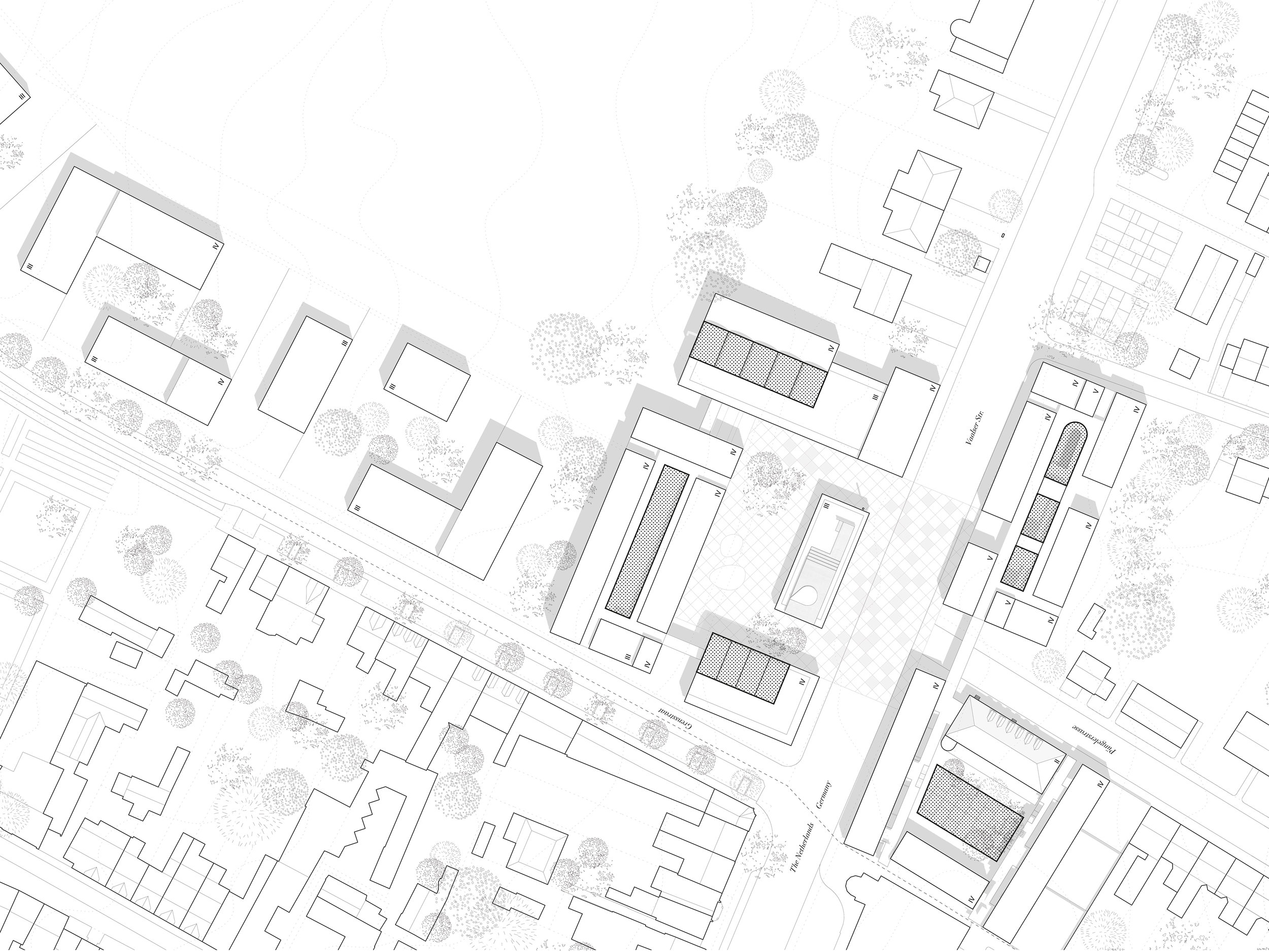 Collective Housing. Projective Habitat Competition. Site plan architecture