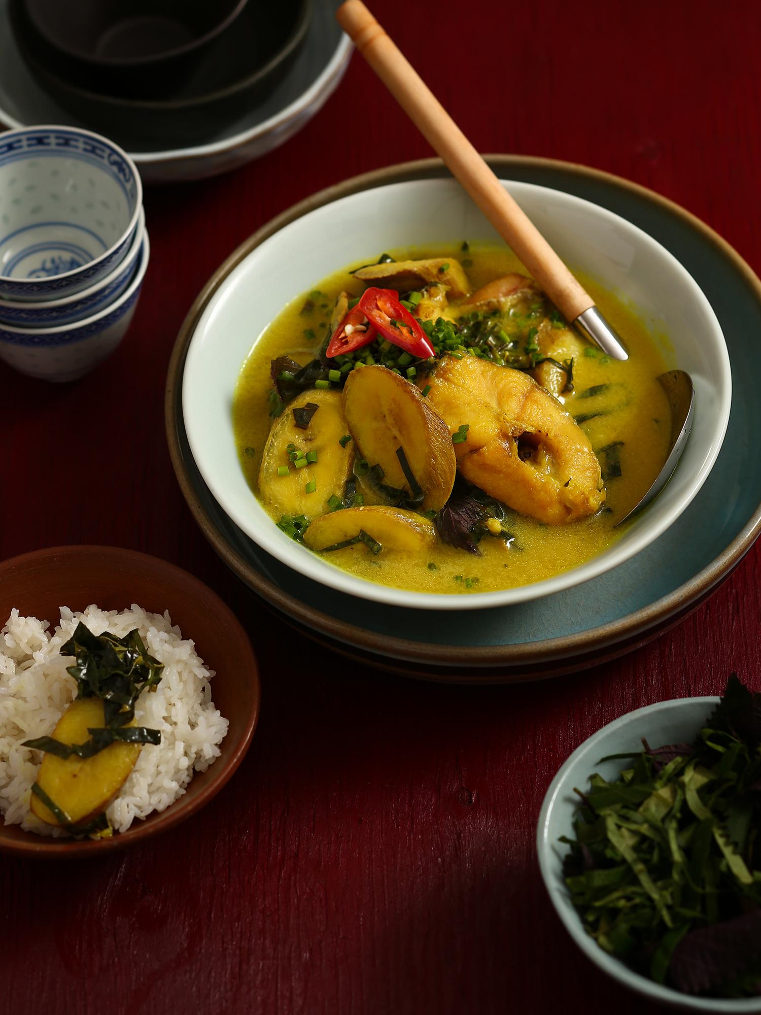 Món Cá om chuối đậu được chúng tôi thực hiện cho tạp chí Heritage tháng 10. - Food Stylist : meothuyduong