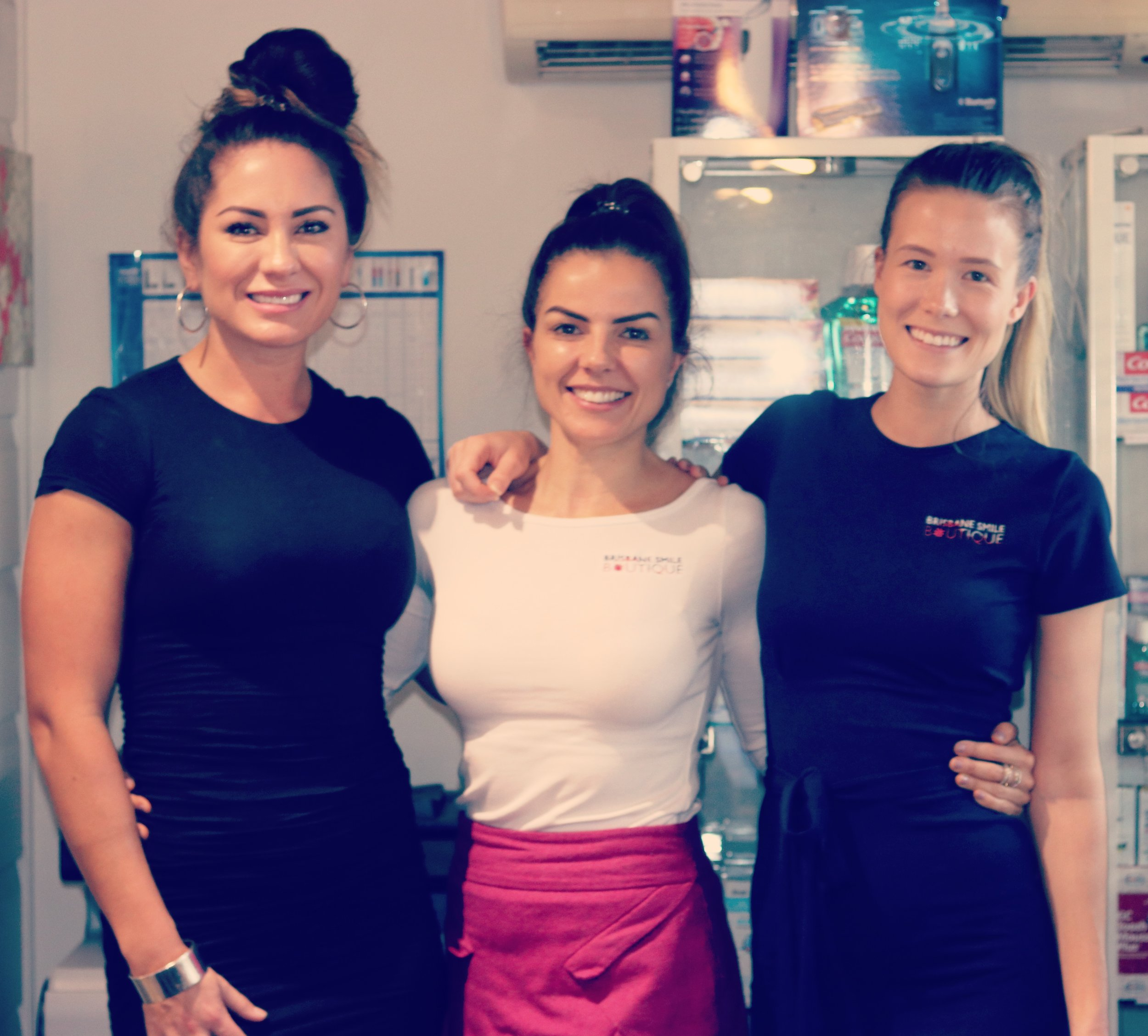 Holly, Sonia and Sabrina are our practice co-ordinators at Brisbane Smile Boutique