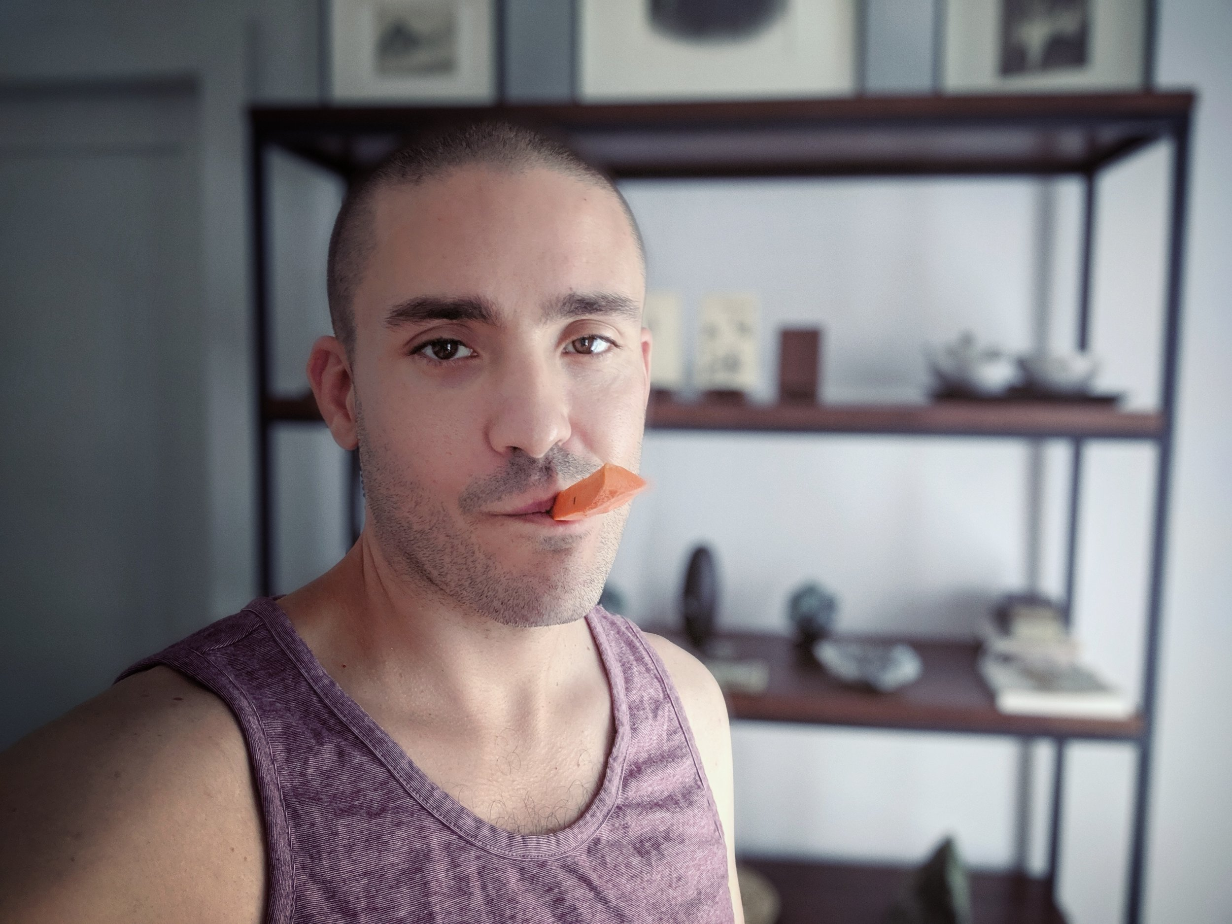adam with carrot