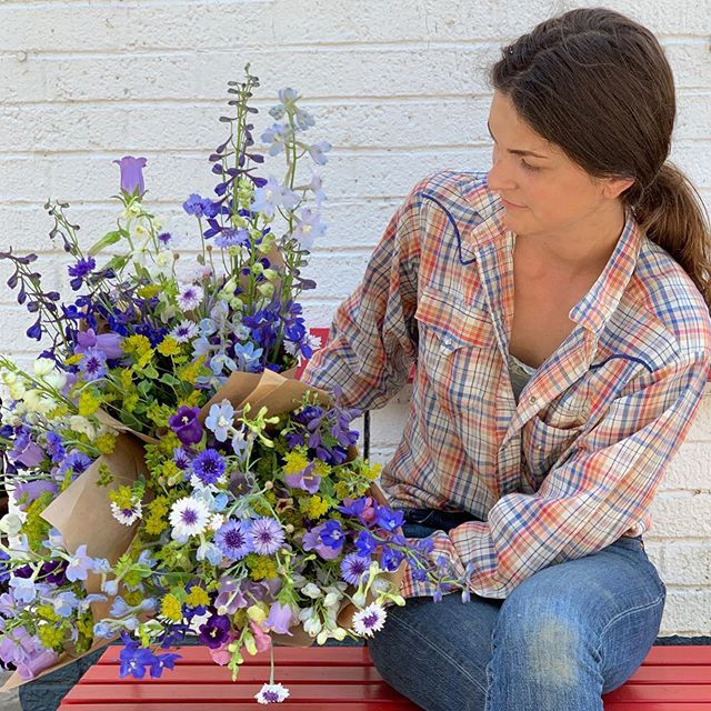 Back by popular demand! We'll be running the DEAL OF THE CENTURY sale one more time at @ashevillecitymarket on Saturday. Some folks were bummed to have missed it, and with all the heat of the last week, we'll certainly have the blooms! - What is it? Well, for starters, most straight bunches are one for $7, two for $12, three for $15 (crazy!), four for $20, etc., AND 10 for $45. Because why not? - Mixed bouquets like the ones in the photo will be mondos — packed full to brimming with really nice little treasure of late spring: delphinium, campanula, snaps, bachelors buttons, sweet William and more! - This is really, truly the last week we will run this sale! It's a once a year only kind of thing, so come see us from 8 a.m. until noon on Saturday!