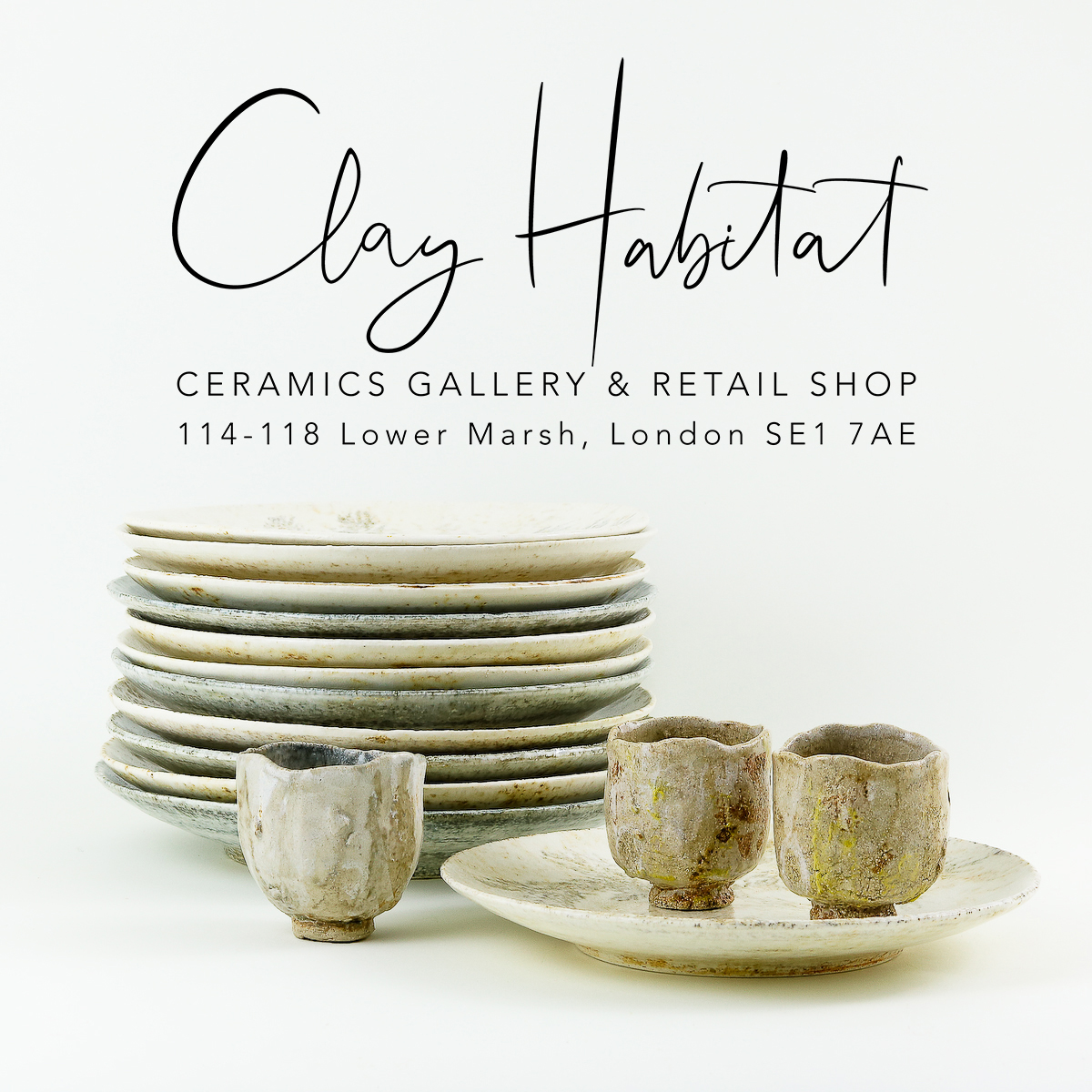 Clay Habitat ceramics gallery - I have now joined the other 12 resident ceramic artists at this lovely retail and gallery space just a stone's thrown from Waterloo station on Lower Marsh, and a selection of my work will be on display and available to buy until at least the end of February 2020. If you'd like to schedule a private viewing please contact me, otherwise do pop in any time Wednesday to Sunday.Clay Habitat, 114-118 Lower Marsh, London SE1 7AEMonday - Tuesday closedWednesday - Saturday 11-7, Sunday 11-3pm