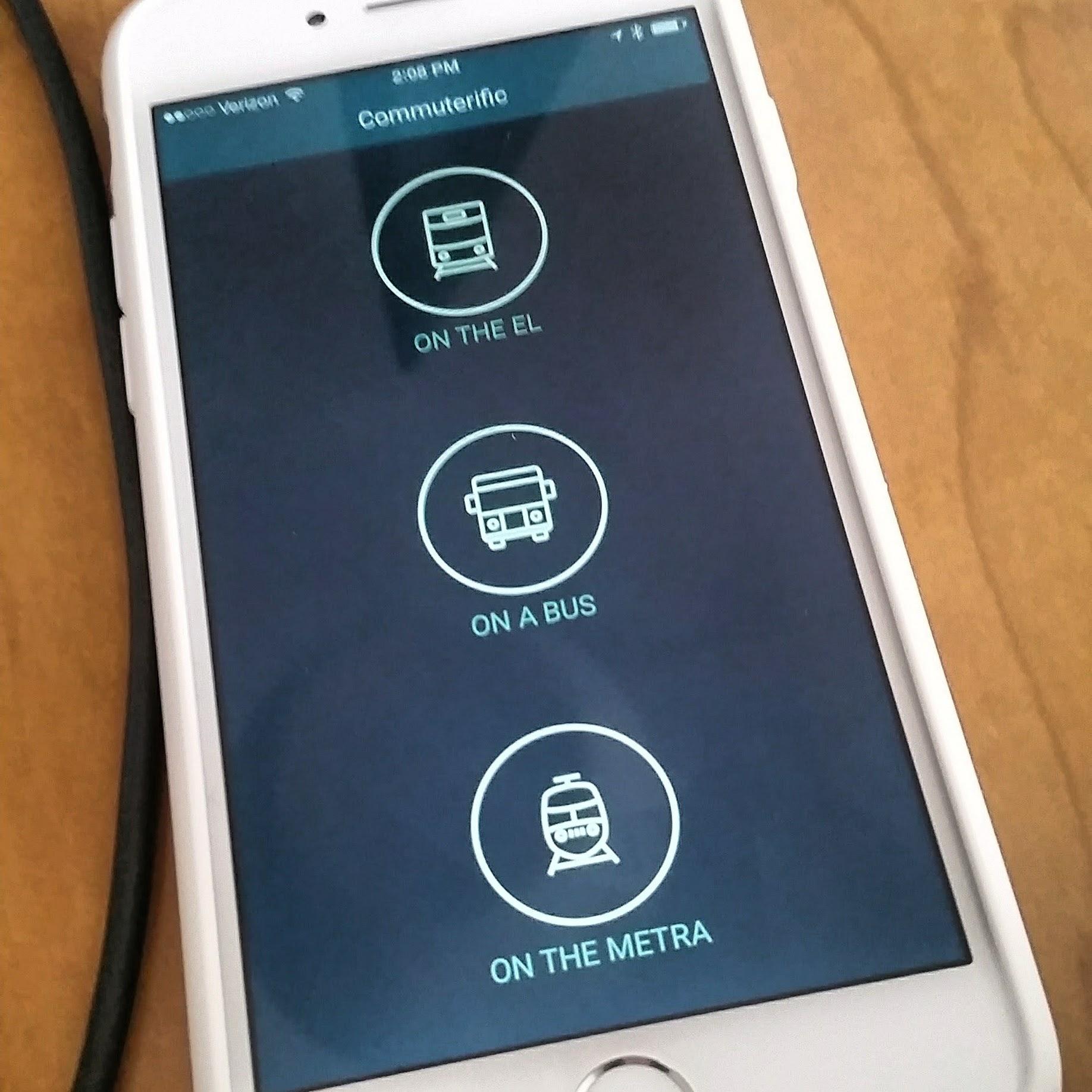 Drop a pin near a bus stop or select an active Metra or CTA train stop to set Commuterific.