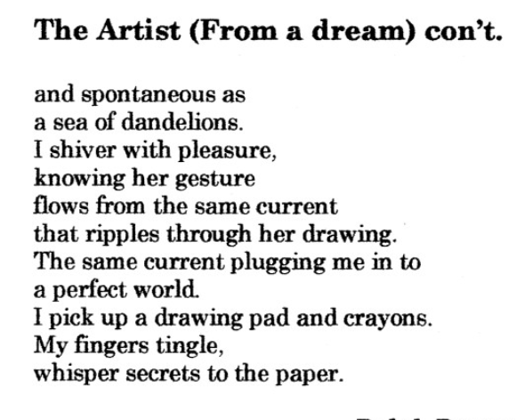Dream Fantasy International , Issue #34, pages 52/53   The Artist
